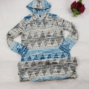Cuddl Duds Long Hooded Sleepwear Size Small Plush